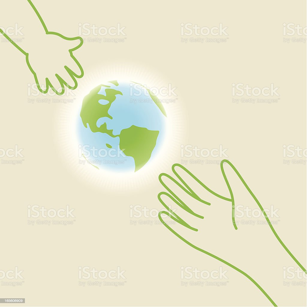 Save the planet for children royalty-free stock vector art