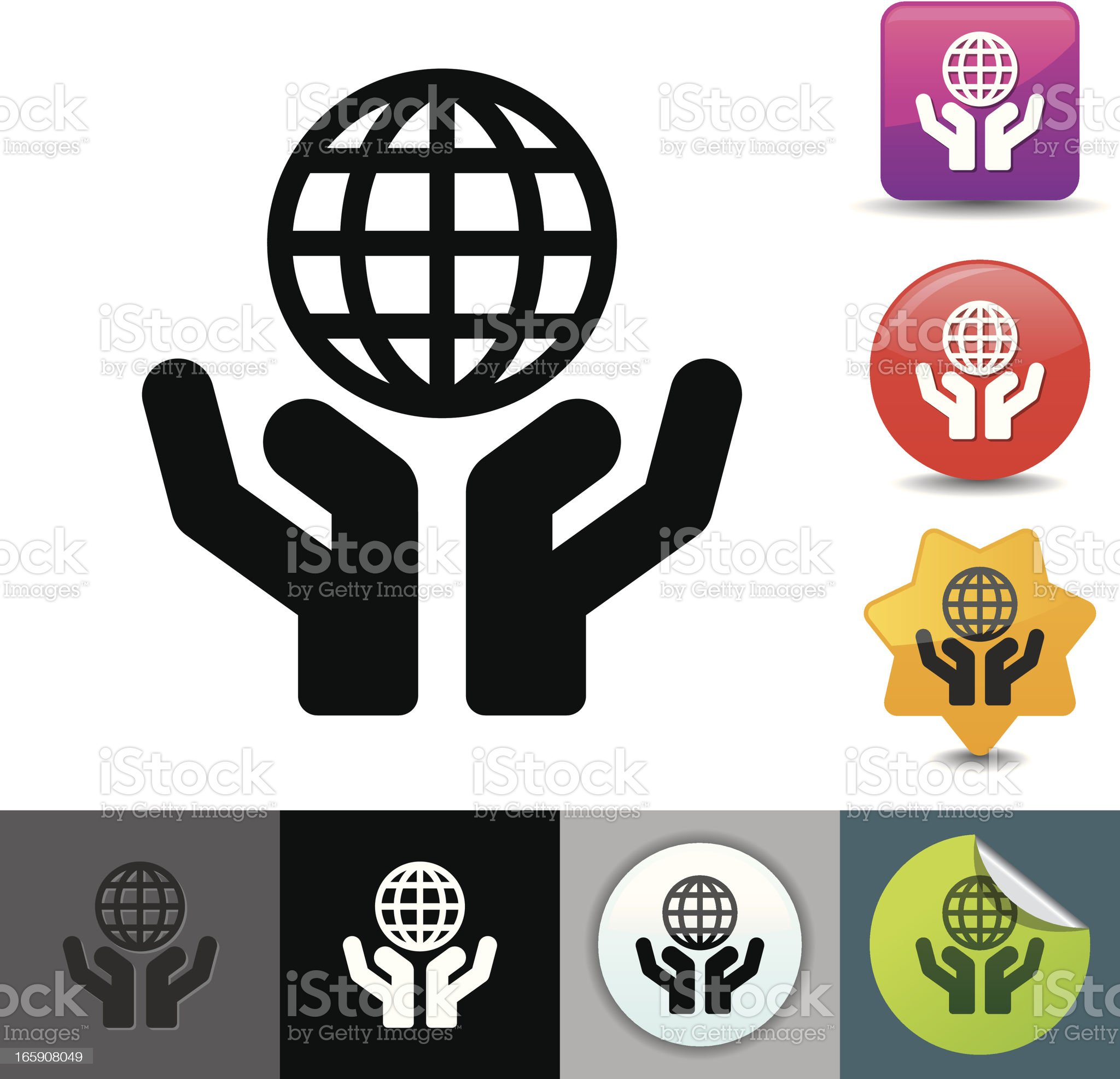Save the planet icon | solicosi series royalty-free stock vector art