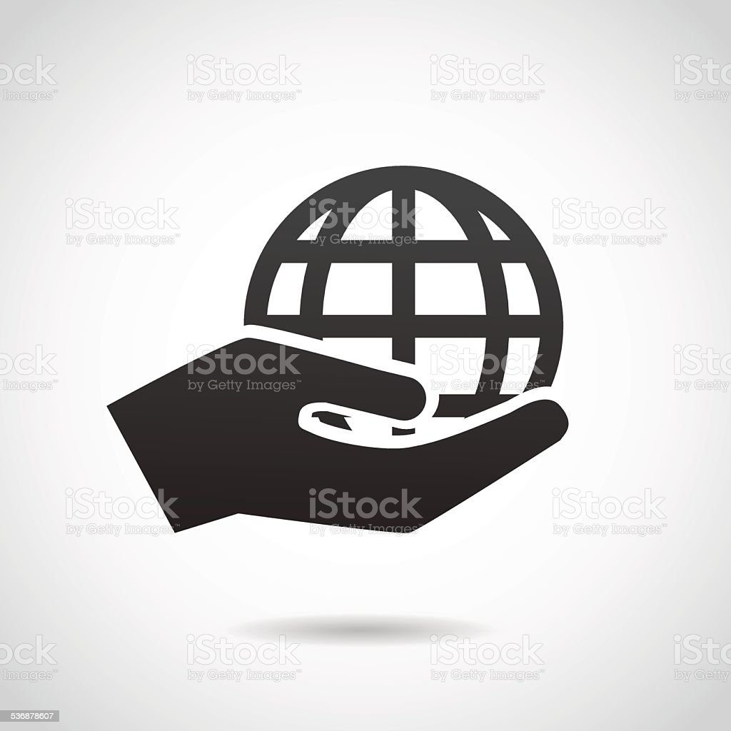 Save the planet icon. vector art illustration