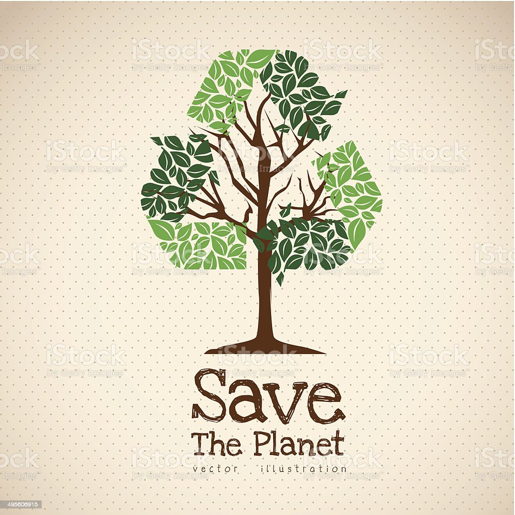 Save the Planet vector art illustration