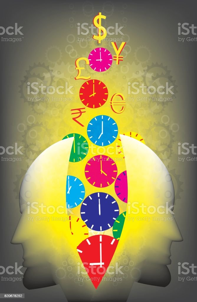 save the time Use the time, vector art illustration