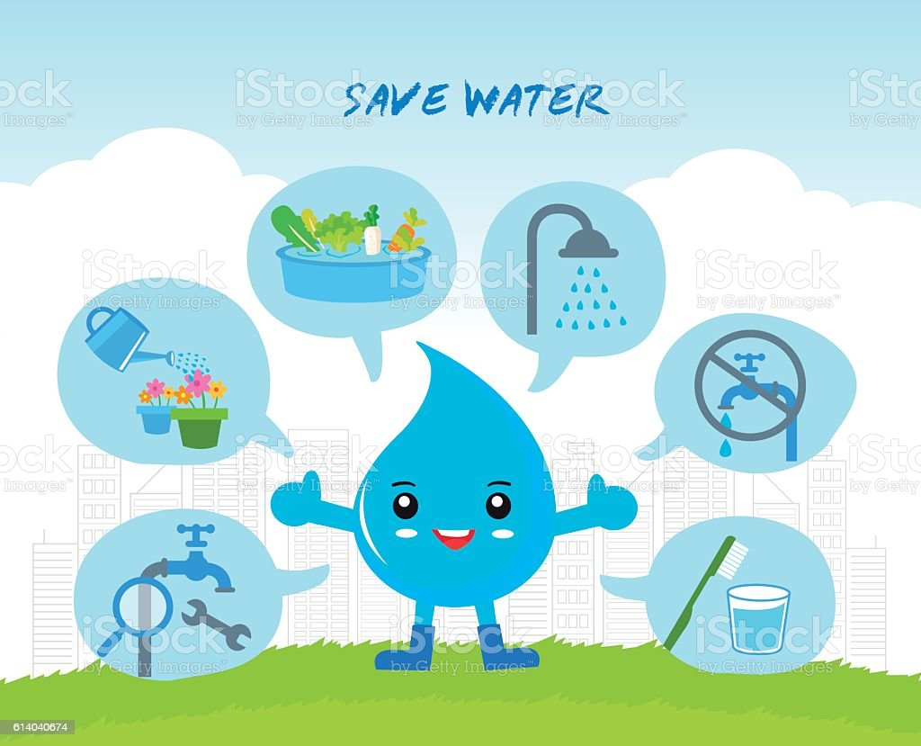 save the water infographic royalty-free stock vector art