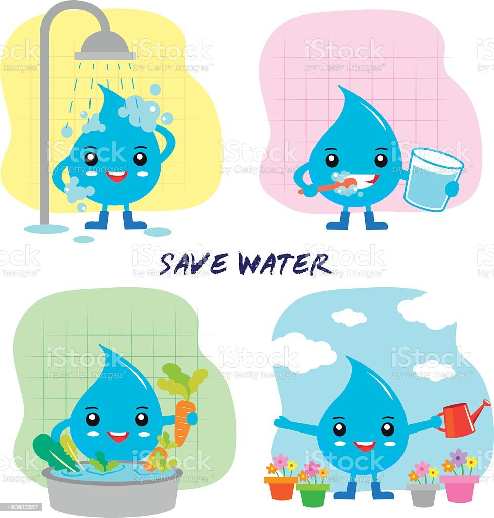 save the water - save the world royalty-free stock vector art