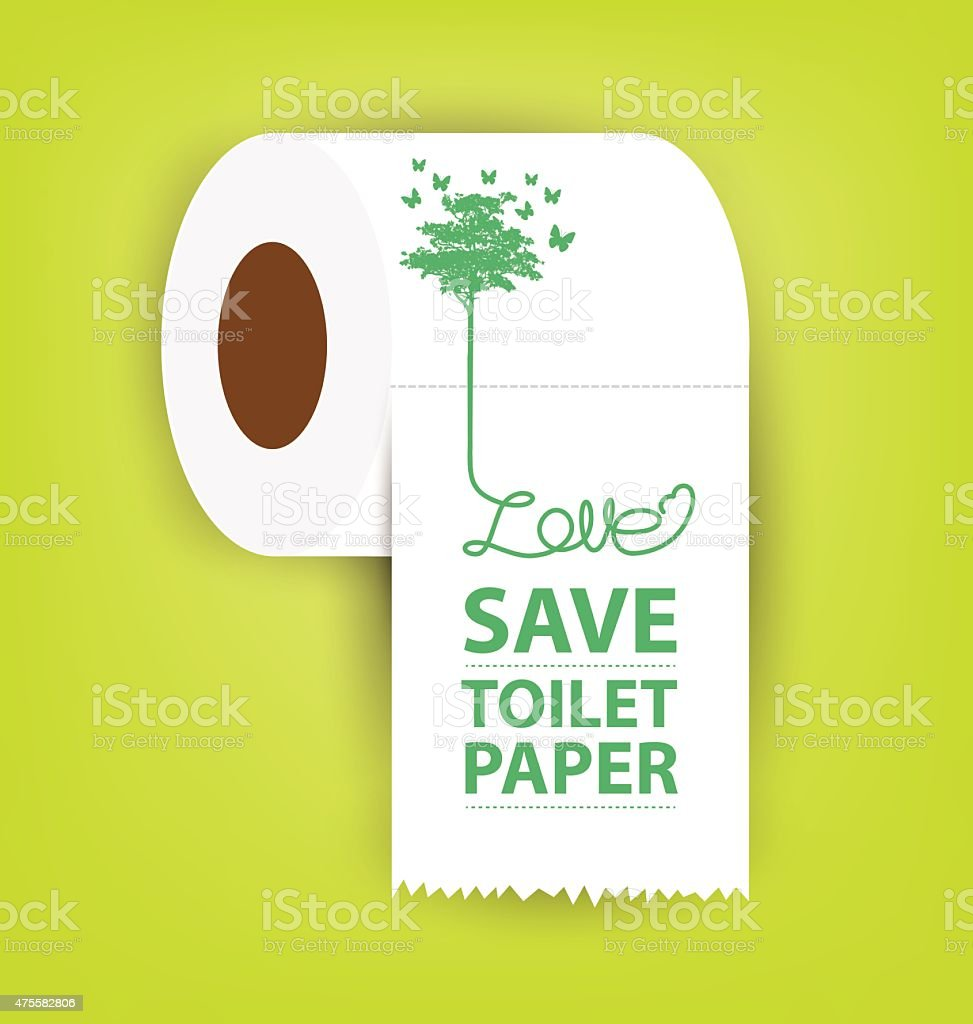Save Toilet paper vector illustration. vector art illustration
