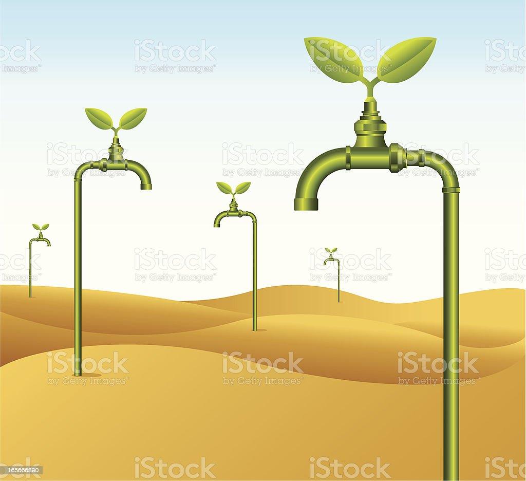 Save water vector art illustration