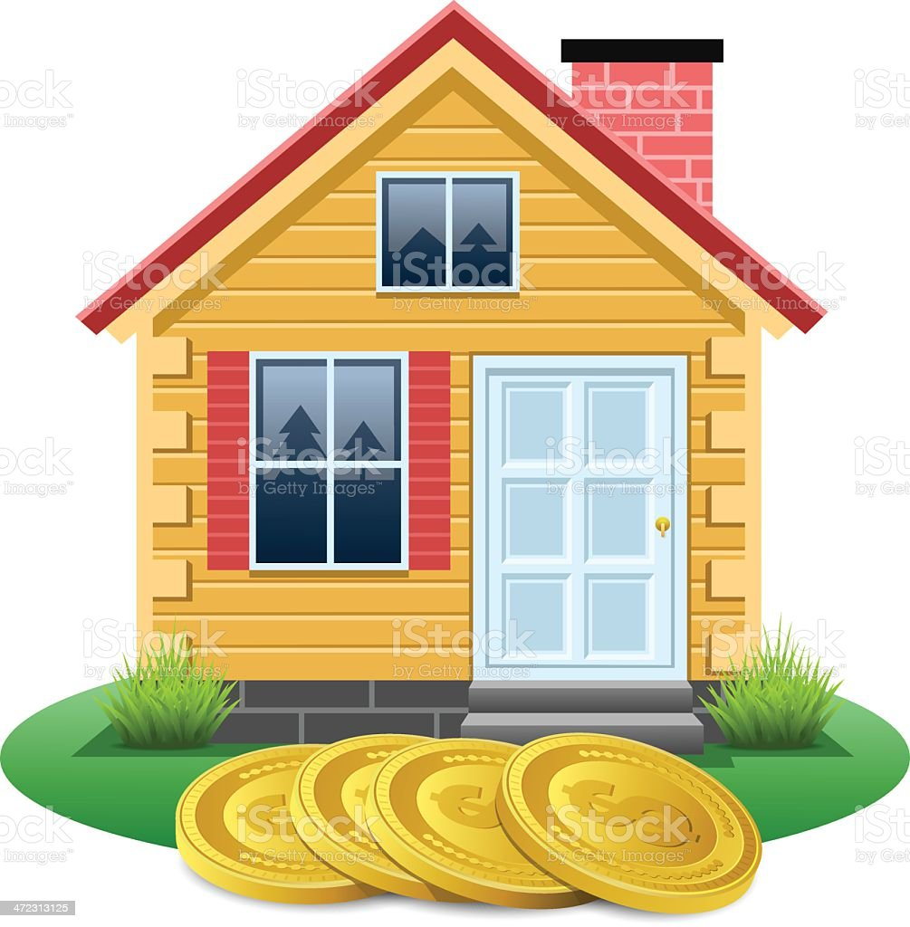 Saving for a house royalty-free stock vector art
