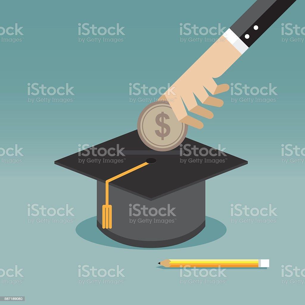 Saving for education vector art illustration