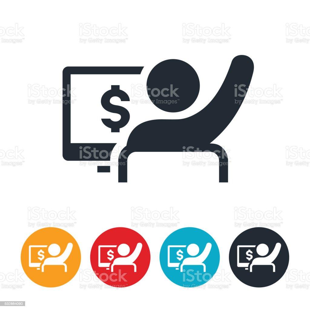 Saving Money Icon vector art illustration