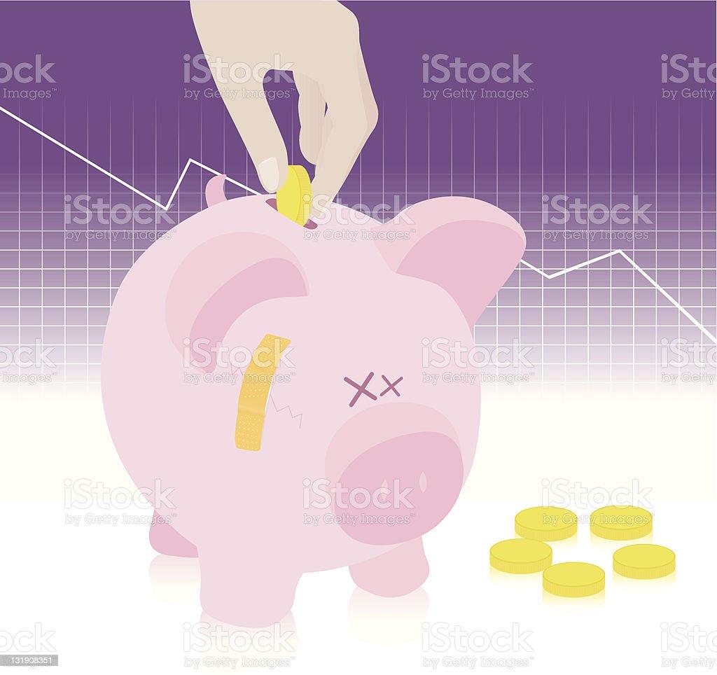 Saving money royalty-free stock vector art