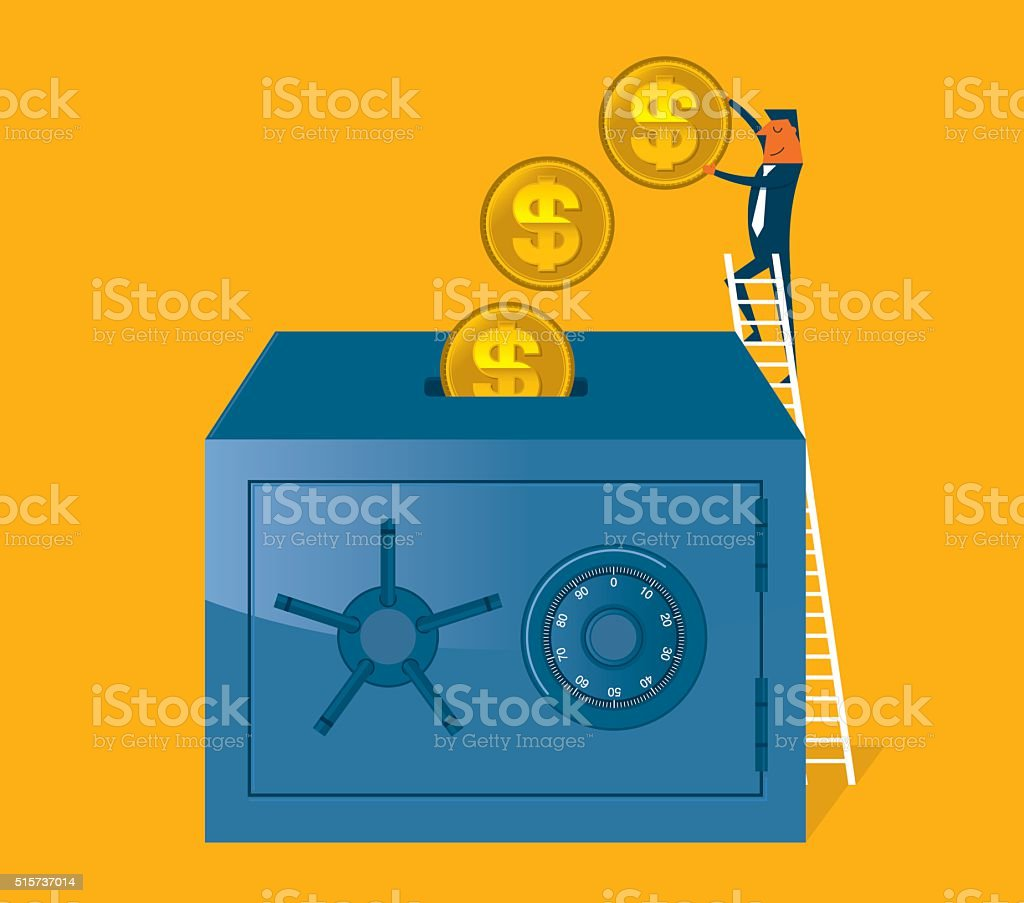 Saving Money vector art illustration