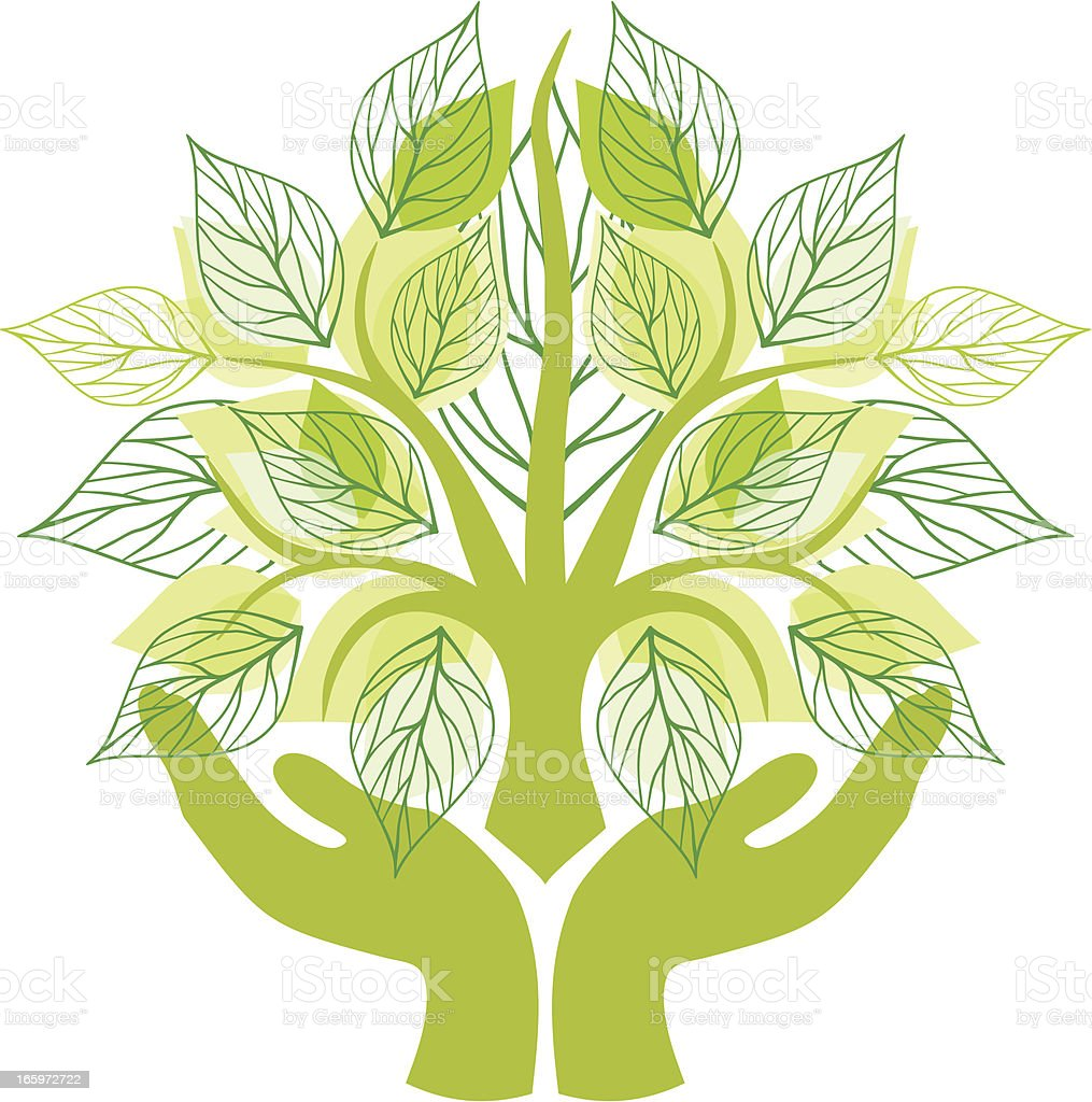 Saving nature vector art illustration