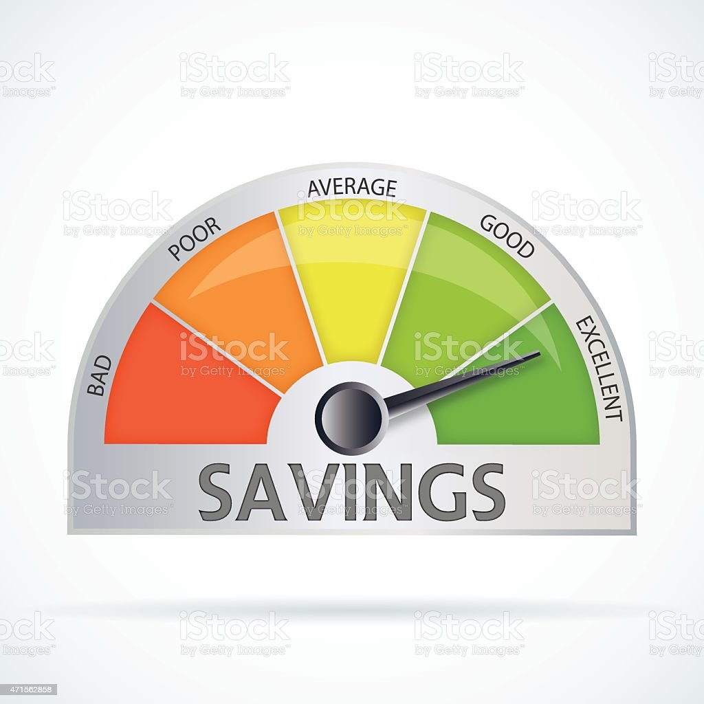 Savings chart vector art illustration