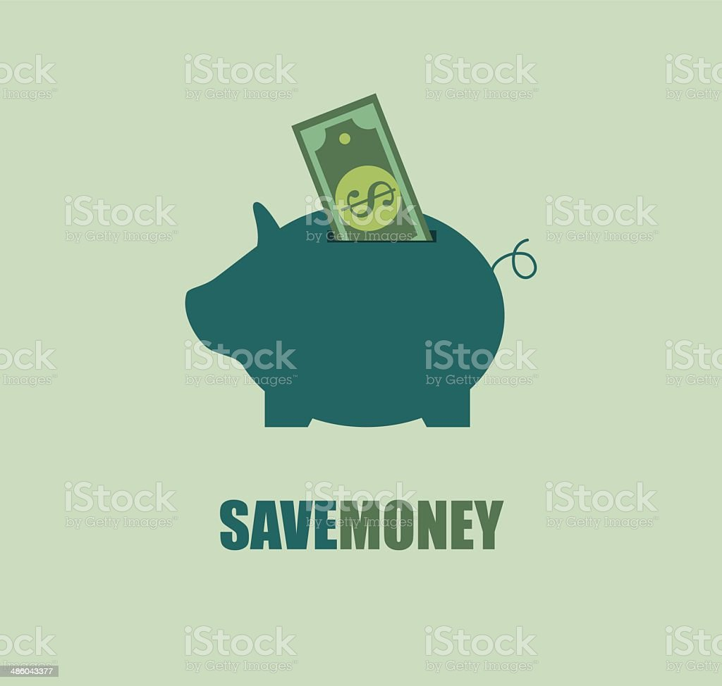 savings design vector art illustration