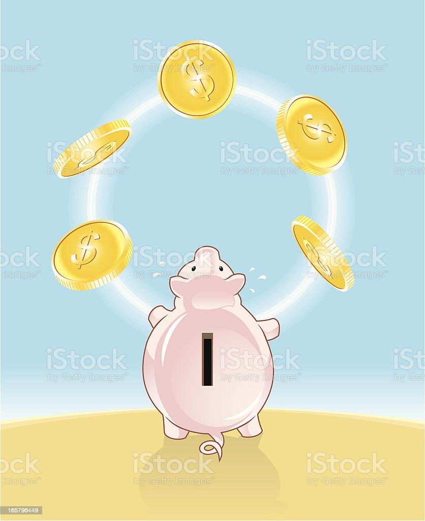 Savings Juggle vector art illustration