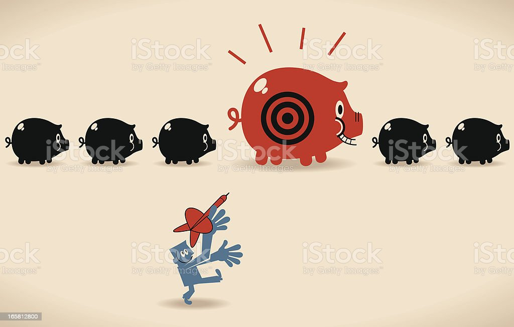 Savings On Target royalty-free stock vector art