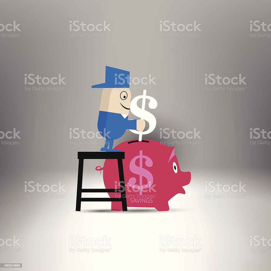 Savings royalty-free stock vector art