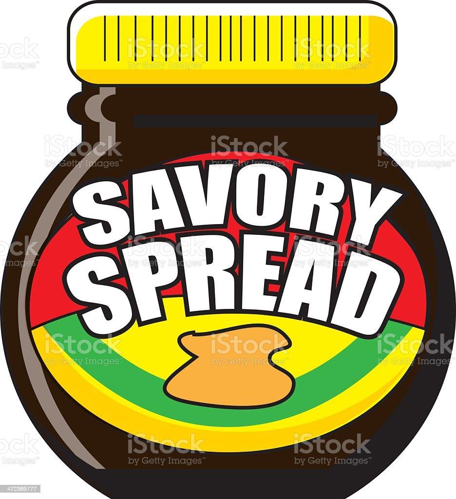 Savoury Spread - Marmite vector art illustration