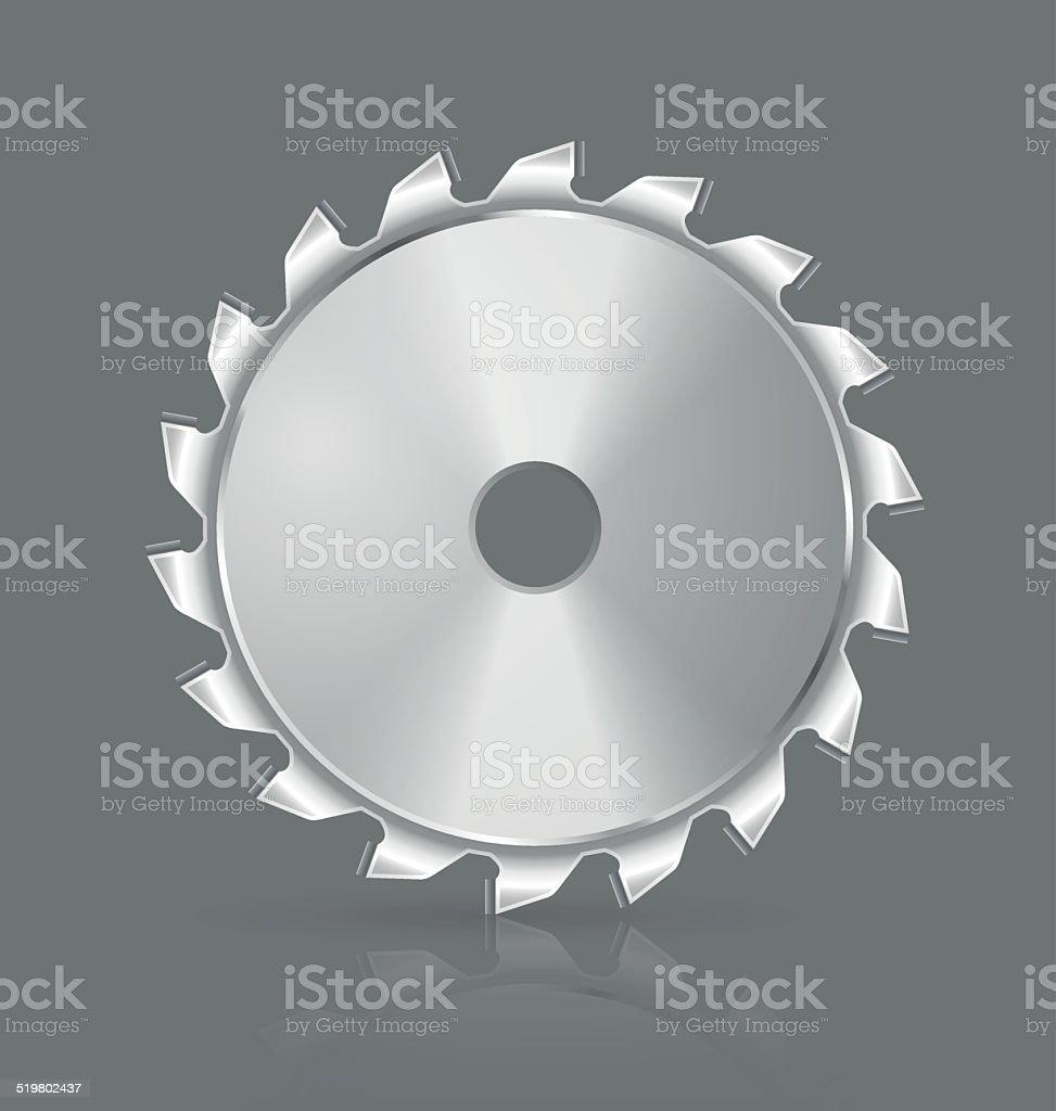 Saw blade icon vector art illustration