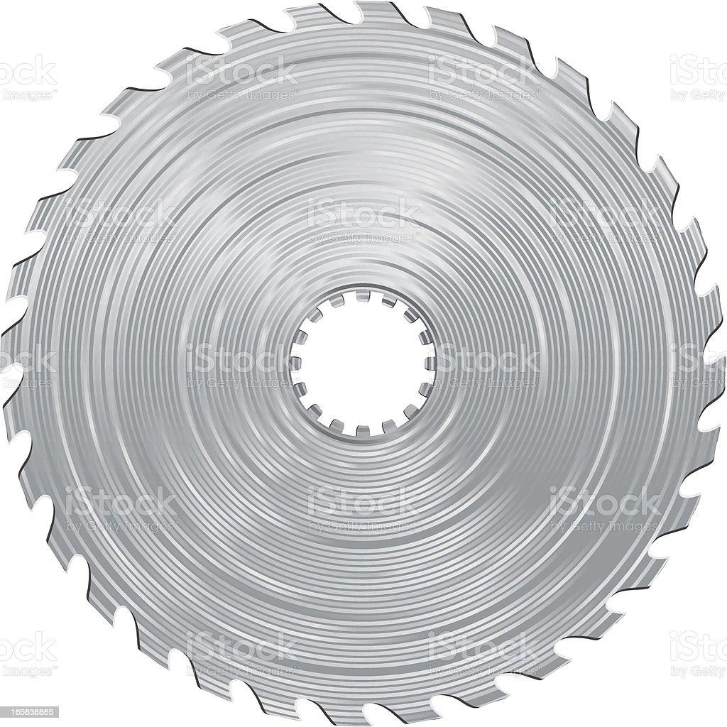 Saw blade royalty-free stock vector art