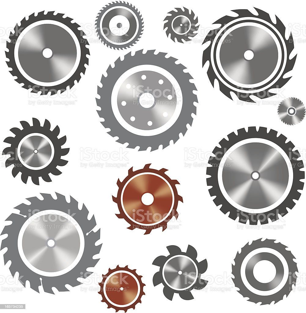 Saw blades royalty-free stock vector art