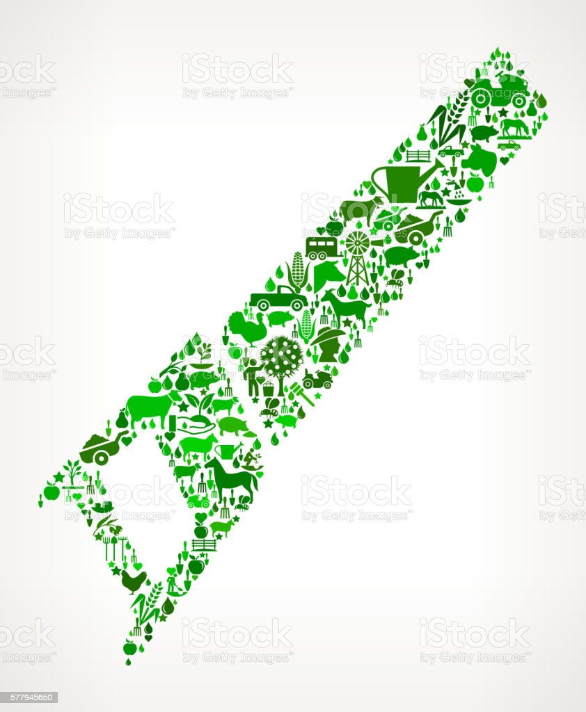 Saw Farming and Agriculture Green Icon Pattern vector art illustration