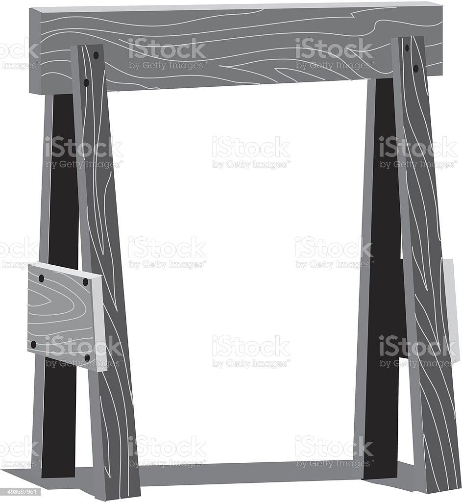 Saw Horse royalty-free stock vector art