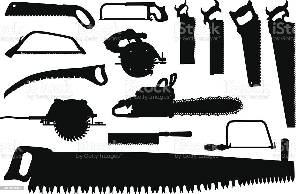 Saws vector art illustration