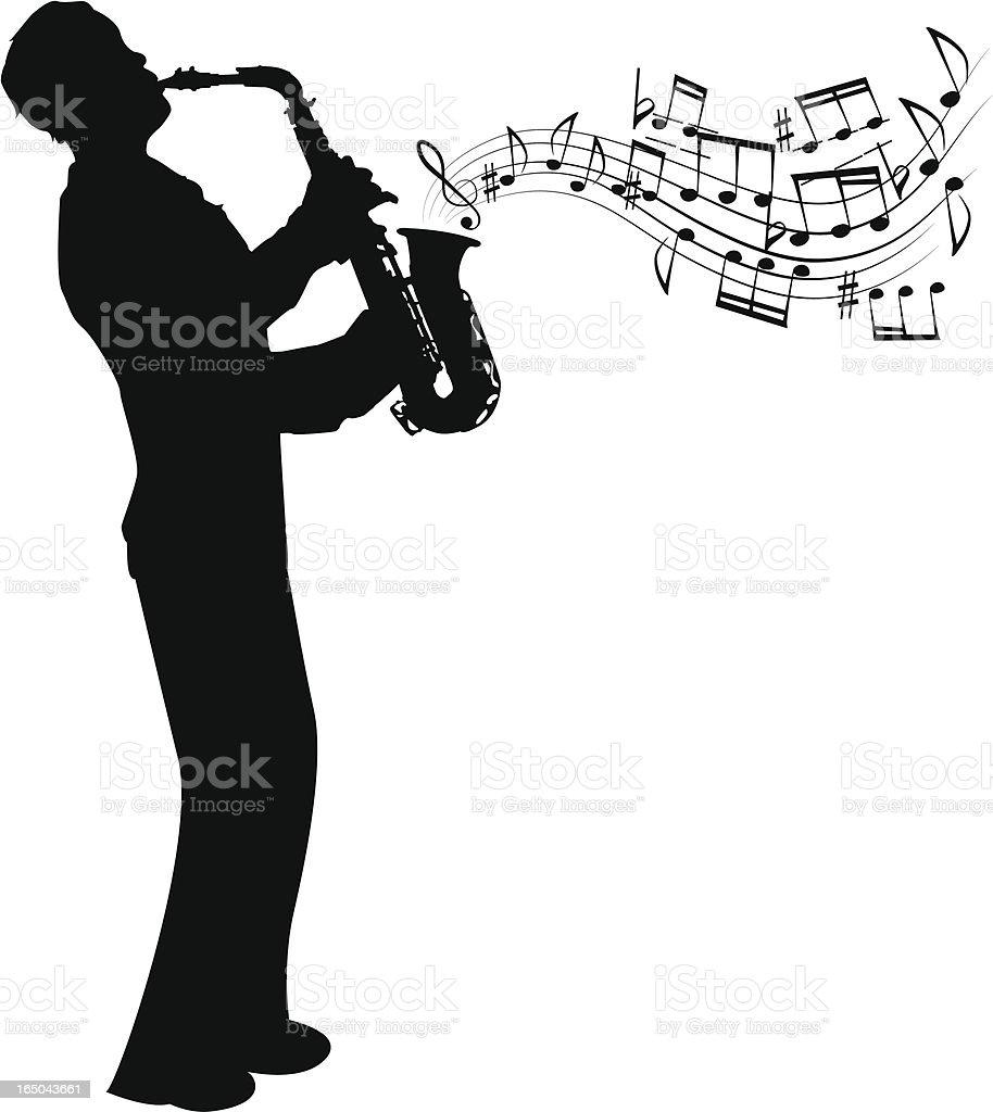Sax player royalty-free stock vector art