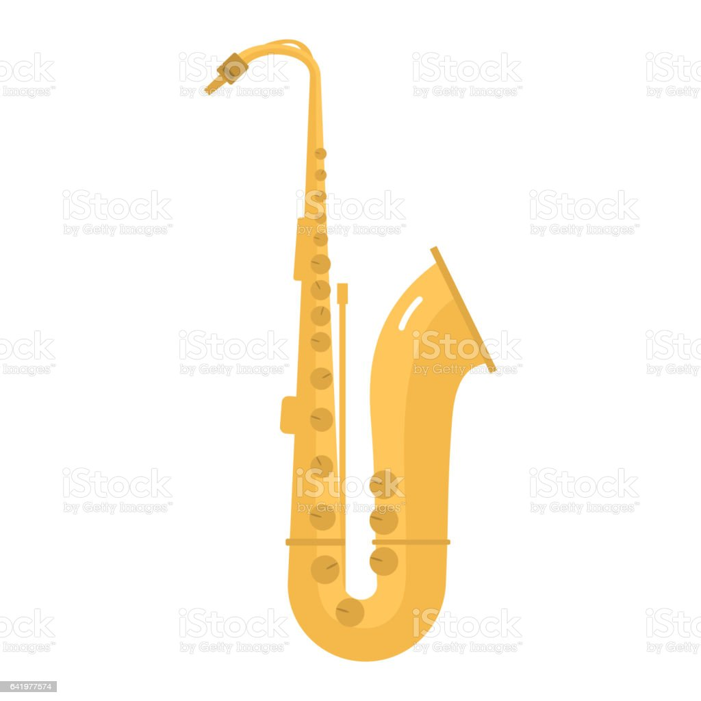 Saxophone icon music classical sound instrument vector illustration vector art illustration