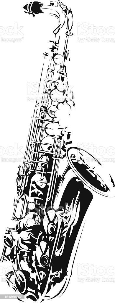 Saxophone vector art illustration