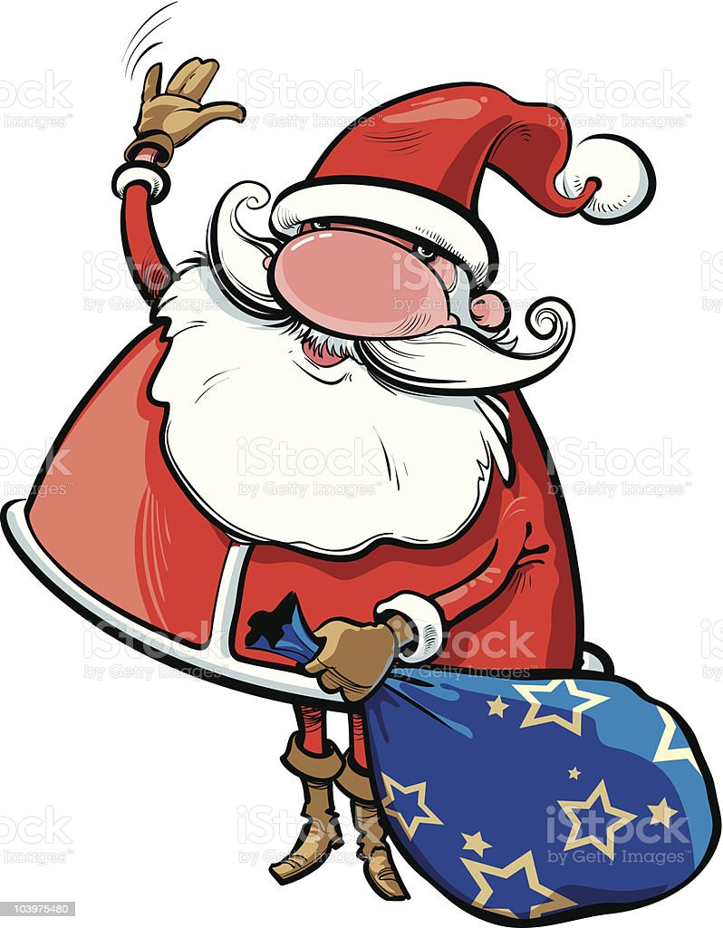 Say hello to Santa! royalty-free stock vector art
