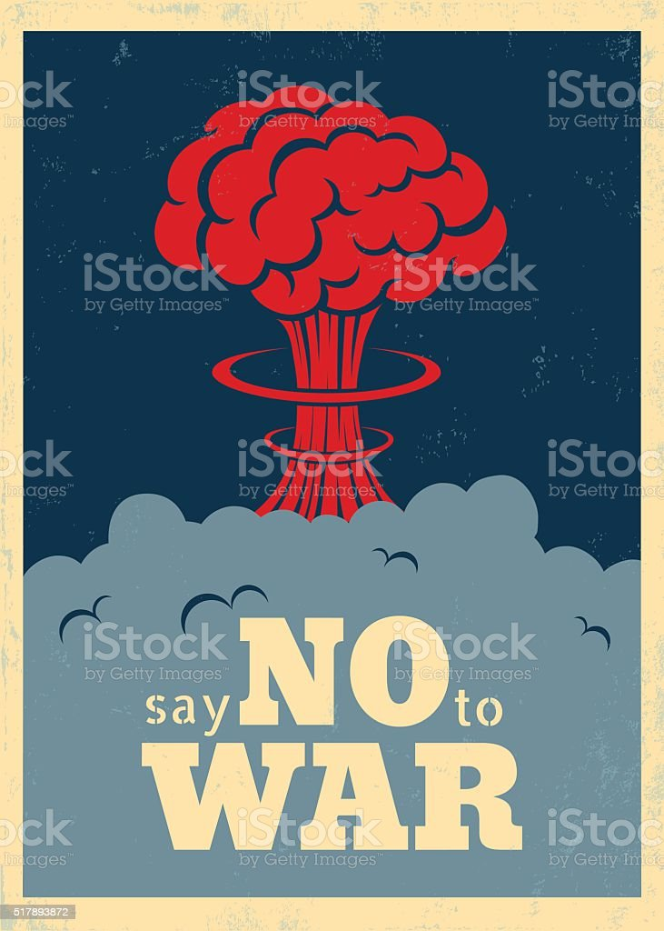 Say no to war vector art illustration