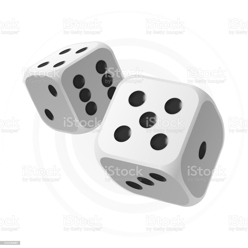 Dices vector art illustration
