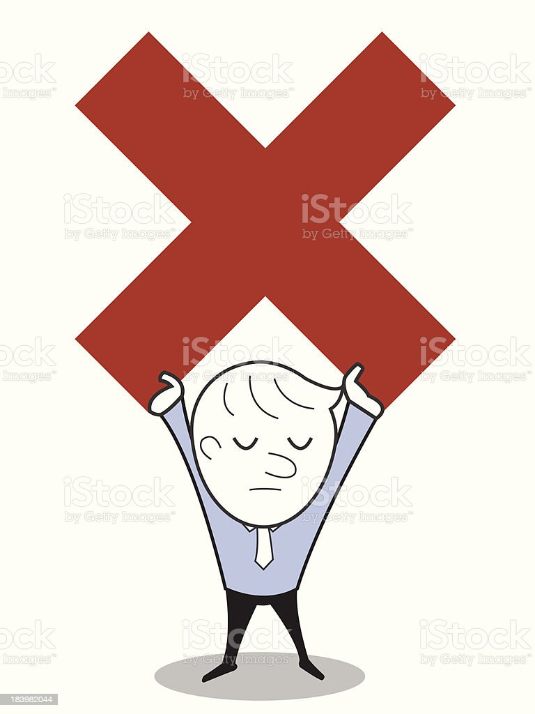 Saying no or negative result royalty-free stock vector art