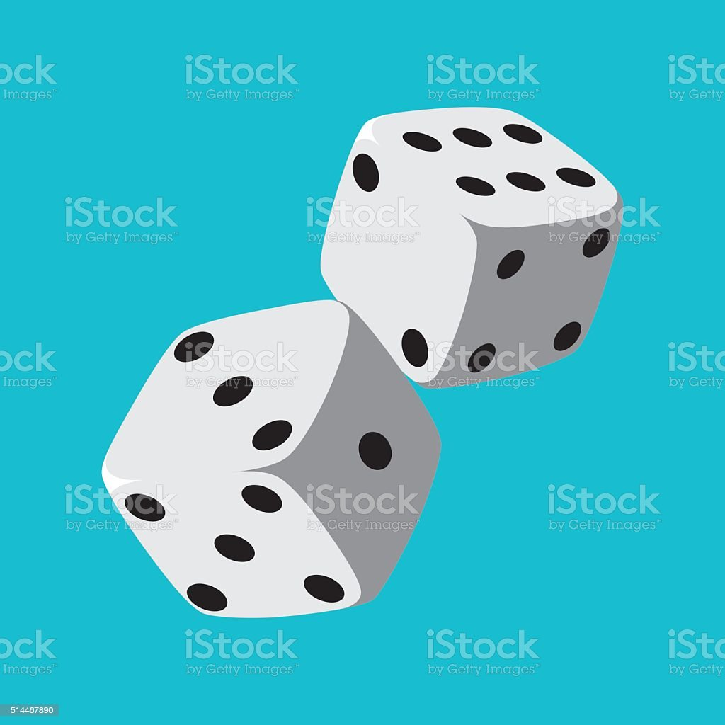 Dice vector art illustration