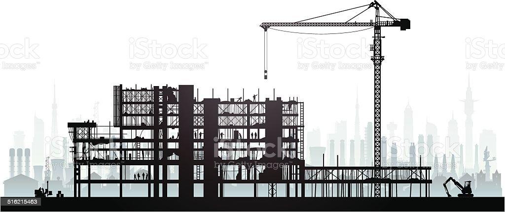 Scaffolding vector art illustration