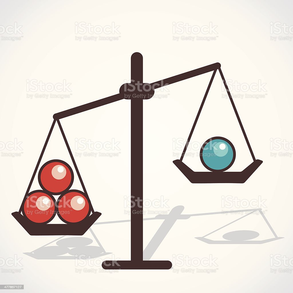 scale balls royalty-free stock vector art