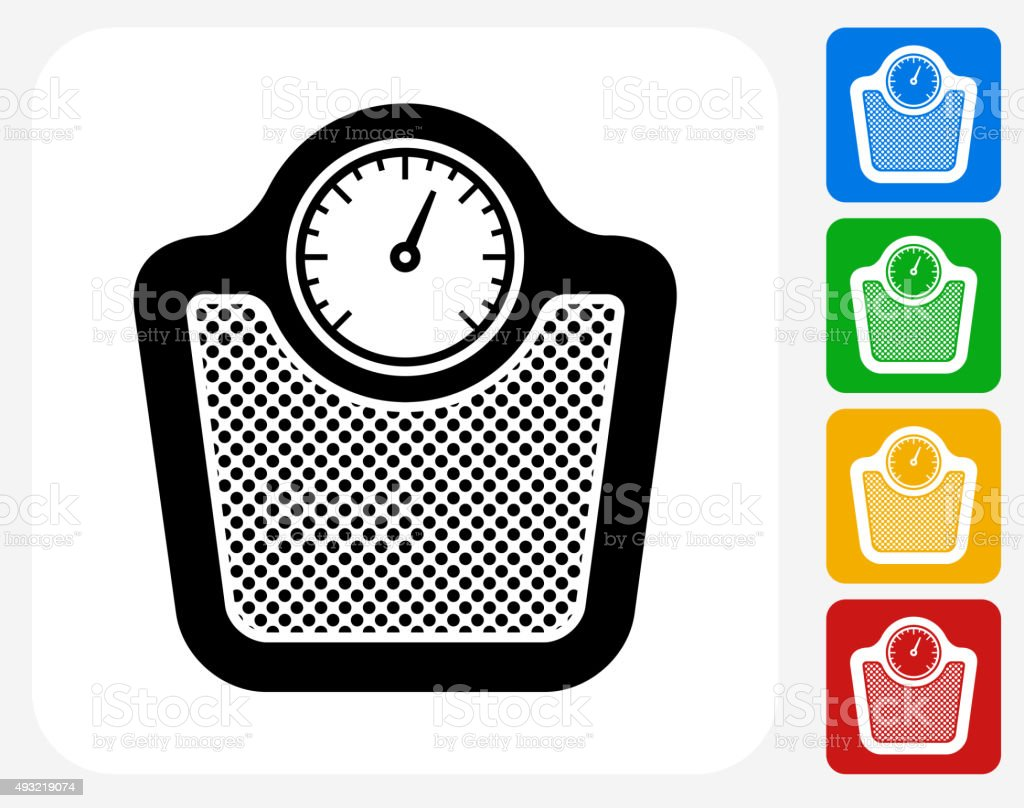 Scale Icon Flat Graphic Design vector art illustration