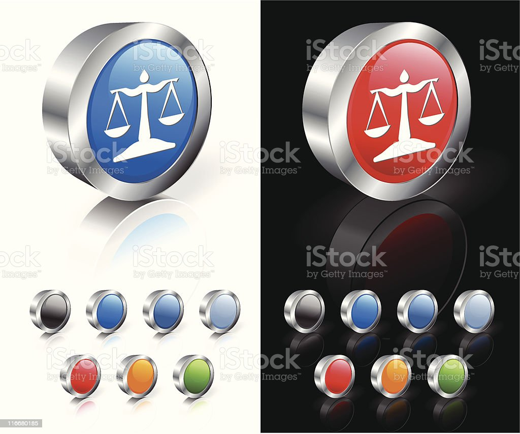 scale of justice 3D royalty free vector art royalty-free stock vector art