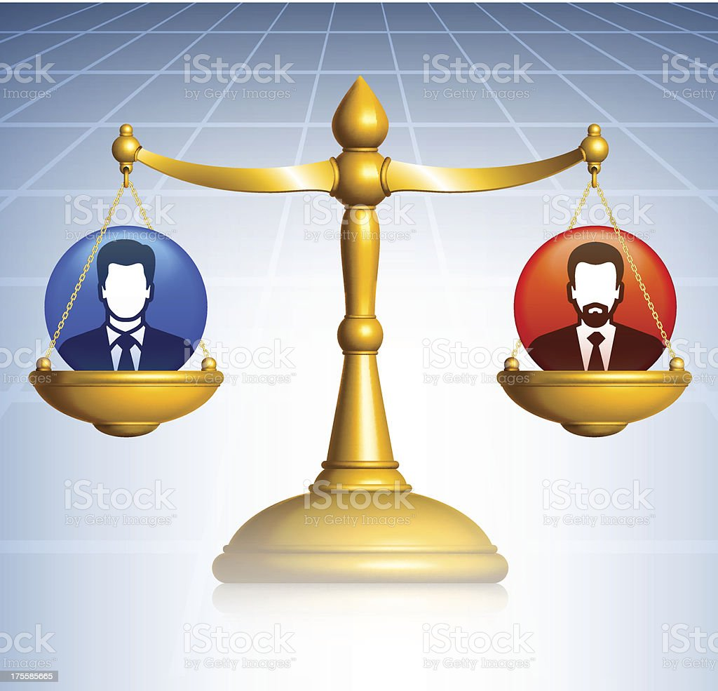Scale of Justice Business Concept royalty-free stock vector art