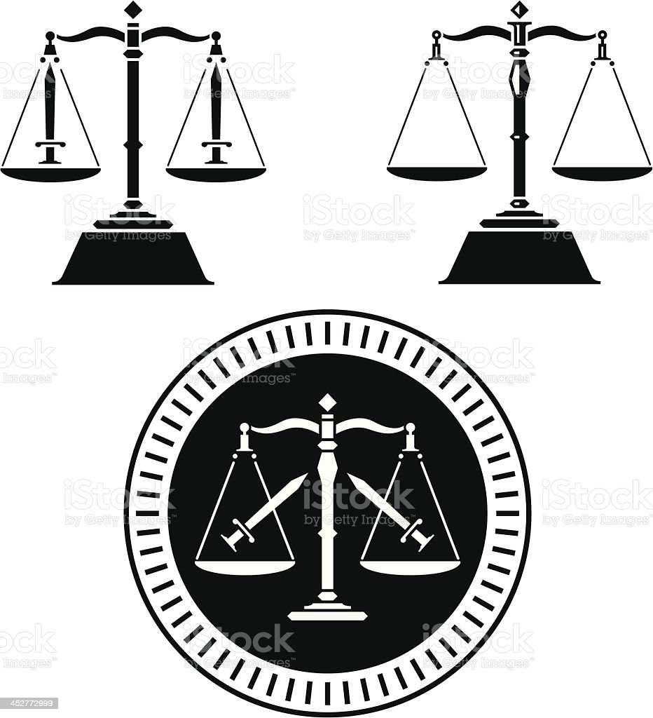 Scale of Justice royalty-free stock vector art