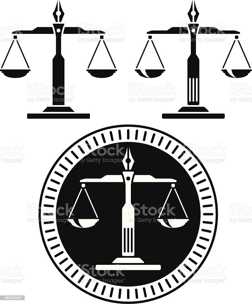 Scale of justice vector art illustration