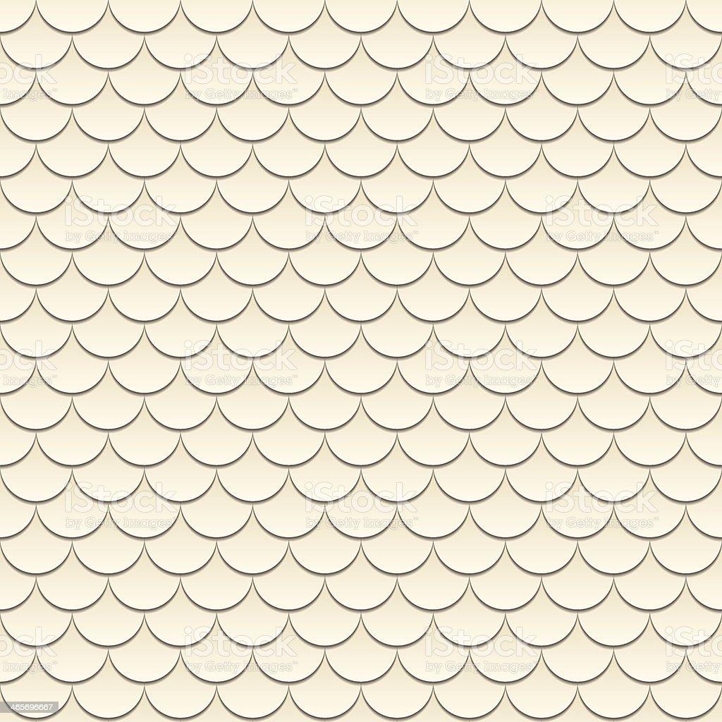 Scale seamless pattern beige geometrical pattern vector art illustration