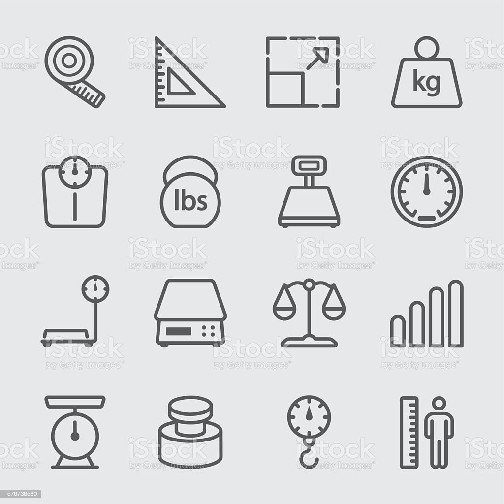 Scale unit  line icon vector art illustration
