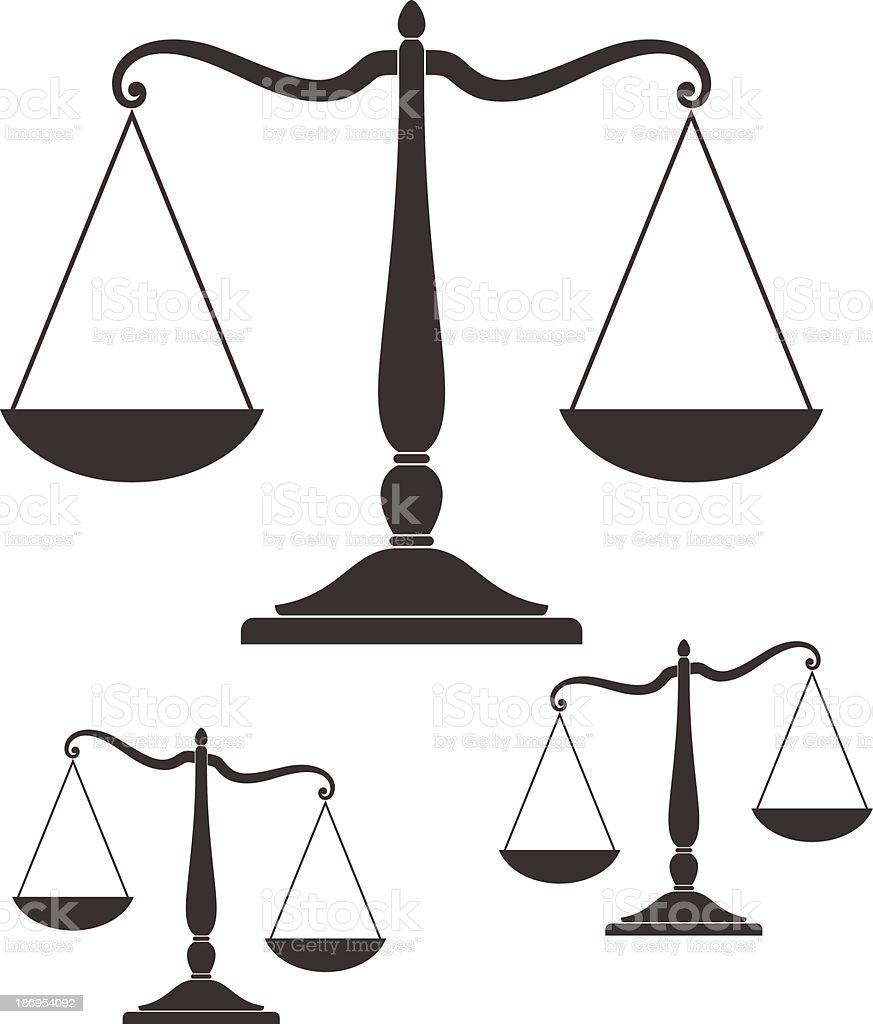 Scale vector art illustration