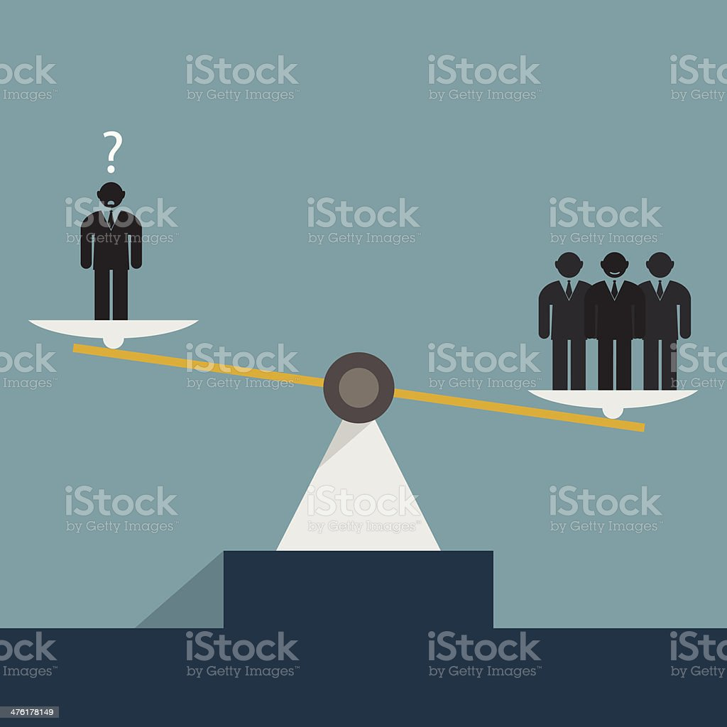 scales and abstract human them concept vector art illustration