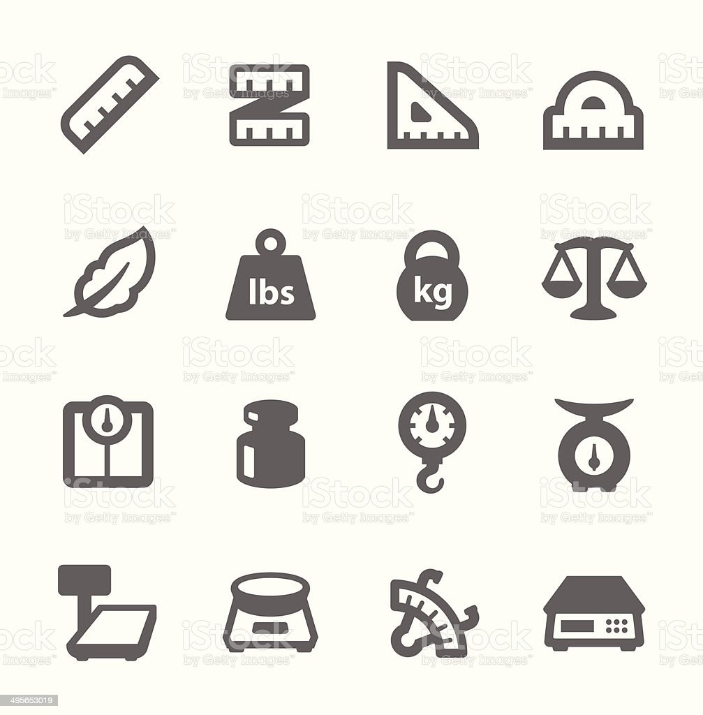 Scales and Rulers Icons vector art illustration