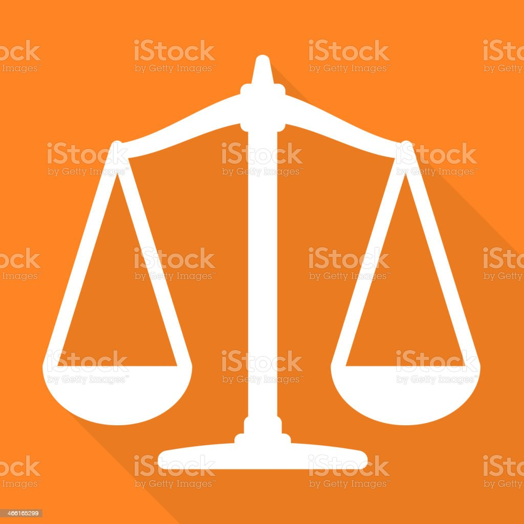 Scales balance icon vector art illustration