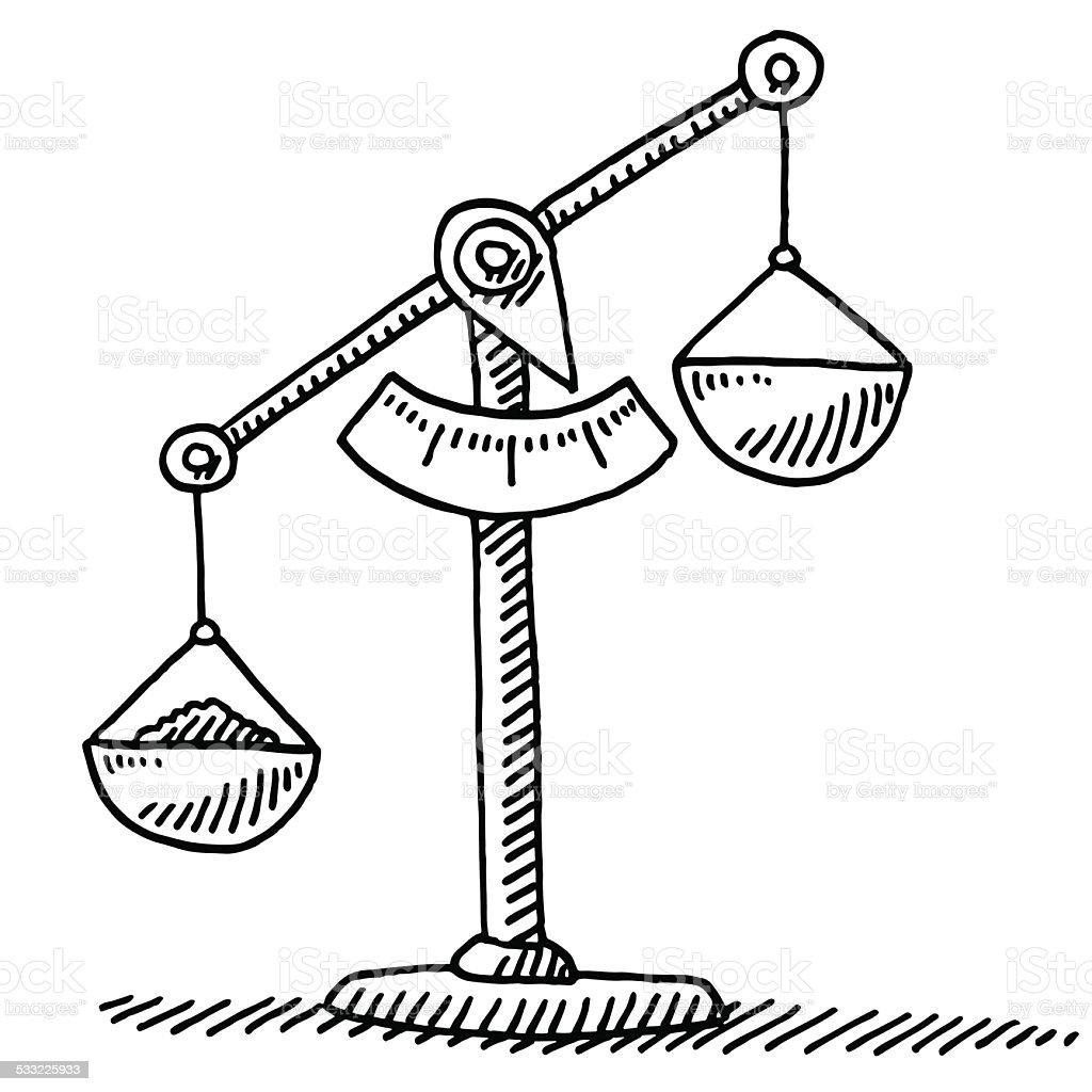 Balance disequilibrium dessin stock vecteur libres de droits 533225933 istock - Dessin de balance ...