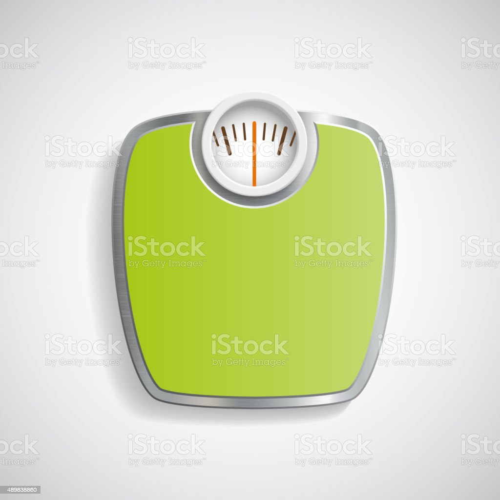 Scales for weighing. vector art illustration